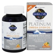 Minami Platinum Omega-3 Fish Oil Plus D3 Orange 1100 mg. - 60 Softgels by Garden of Life
