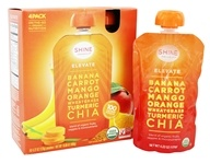 HappyFamily - Shine Organics Elevate Fruit & Veggie Snack Pouches Banana & Carrot - 4 Pouches