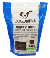 Dogswell - Happy Hips Bars Dog Treats Chicken and Veggies - 15 oz.