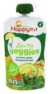 HappyFamily - HappyTot Organic Love My Veggies Pouch Zucchini, Pears, Chickpeas & Kale - 4.22 oz.