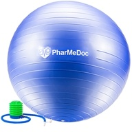 PharMeDoc - Balance Ball with Pump Blue - 55 cm.