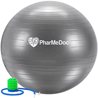 PharMeDoc - Balance Ball with Pump Grey - 75 cm.