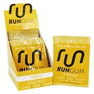 Run Gum - Performance Energy Sugar-Free Gum Fruit - 12 Packet(s)