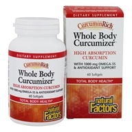 Natural Factors - CurcuminRich Whole Body Optimizer - 60 Softgels