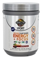 Sport Organic Plant-Based Energy + Focus Blackberry Cherry - 8.1 oz.