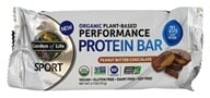 Garden of Life - Sport Organic Plant-Based Performance Protein Bar Peanut Chocolate Butter - 2.7 oz.