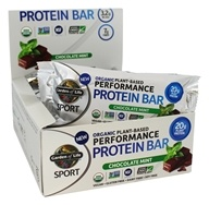 Garden of Life - Sport Organic Plant-Based Performance Protein Bars Chocolate Mint - 12 Bars