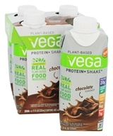 Vega - Plant-Based Protein+Shake Chocolate - 4 Pack