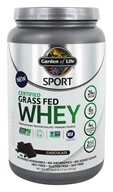 Garden of Life - Sport Certified Grass Fed Whey Chocolate - 23.7 oz.