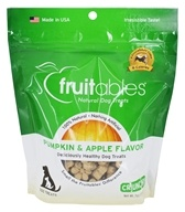 Fruitables Pet Food - Crunchy Healthy Dog Treats Pumpkin & Apple - 7 oz.