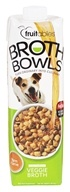 Fruitables Pet Food - Browth Bowls for Dogs Veggie Broth - 33.8 oz.