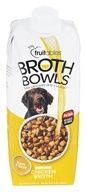 Fruitables Pet Food - Browth Bowls for Dogs Chicken Broth - 16.9 oz.