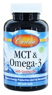 Carlson Labs - MCT & Omega 3 with Coconut Oil - 60 Softgels