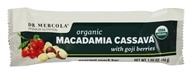 Dr. Mercola Premium Supplements - Organic Macadamia Cassava Gourmet Snack Bar with Goji Berries - 1.55 oz.