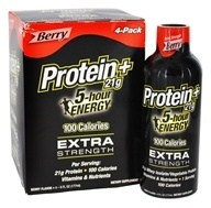 5 Hour Energy - Protein+ Shot Extra Strength Berry - 4 Pack