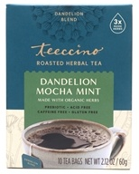Teeccino - Chicory Herbal Tea 85% Organic Dandelion Mocha Mint - 10 Tea Bags