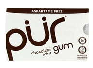 Pur Gum - Sugar Free Chewing Gum Chocolate Mint - 9 Piece(s)