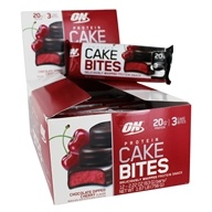 Optimum Nutrition - Protein Cake Bites Chocolate Dipped Cherry - 12 Bars