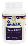 Nutralife - Vitamin D3 5000 IU - 250 Chewable Tablets