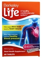 Berkeley Life - Nitric Oxide Heart Health - 60 Tablets