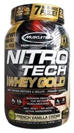 Muscletech Products - Nitro-Tech Performance Series 100% Whey Gold French Vanilla Creme - 2.5 lbs.