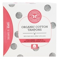 The Honest Company - Organic Cotton Tampons Super - 16 Count