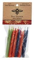 Big Dipper Wax Works - 100% Pure Beeswax Birthday Candles Multi-Color - 12 Count