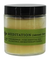 Big Dipper Wax Works - Pure Beeswax Candle Apothecary Glass Meditation Cedarwood & Balsam - 3.2 oz.