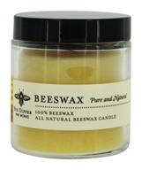 Big Dipper Wax Works - Pure Beeswax Candle Apothecary Glass Pure & Natural - 3.2 oz.