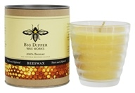 Big Dipper Wax Works - 100% Pure Beeswax Candle Beehive Glass - 4.2 oz.