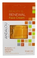 Andalou Naturals - Beauty Is Renewal Face Cream Pod Probiotic + C - 0.14 oz.