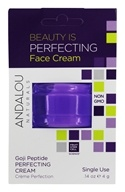 Andalou Naturals - Beauty Is Perfecting Face Cream Pod Goji Peptide - 0.14 oz.