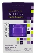 Andalou Naturals - Beauty Is Ageless Face Cream Pod Resveratrol Q10 - 0.14 oz.