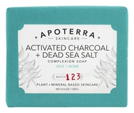 Apoterra Skincare - Complexion Bar Soap Activated Charcoal & Dead Sea Salt - 4.5 oz.