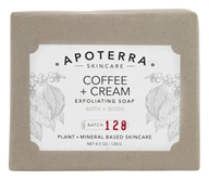 Apoterra Skincare - Exfoliating Bath + Body Bar Soap Coffee & Cream - 4.5 oz.