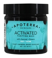 Apoterra Skincare - Activated Purifying Face Mask with Charcoal & Flowers - 1 oz.
