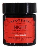 Apoterra Skincare - Night Regenerative Balm with Prickly Pear + Vitamin C - 1 oz.