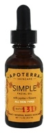 Apoterra Skincare - Simple Facial Oil with Jojoba + Flowers - 1 oz.