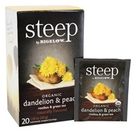 Bigelow Tea - Steep Organic Dandelion & Peach Tea - 20 Tea Bags