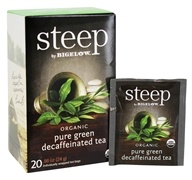 Bigelow Tea - Steep Organic Pure Green Decaffeinated Tea - 20 Tea Bags