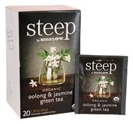 Bigelow Tea - Steep Organic Oolong & Jasmine Green Tea - 20 Tea Bags