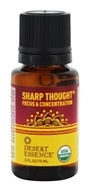 Desert Essence - Organic Sharp Thought Essential Oil - 0.5 oz.