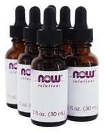 NOW Foods - Empty Amber Glass Bottles + Dropper - 6 Count