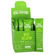 Vital Proteins - Beef Gelatin 100% Pure Collagen Protein Unflavored - 20 Packet(s)