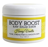 Basq Body Boost - Raw Sugar Scrub Honey Vanilla - 8 oz.
