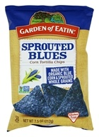 Garden of Eatin - Corn Tortilla Chips Sprouted Blues - 7.5 oz.