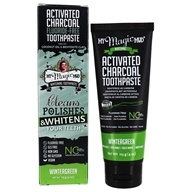 My Magic Mud - Activated Charcoal Fluoride-Free Whitening Toothpaste Wintergreen - 4 oz.