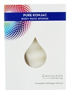 Collective Wellbeing - Konjac Wave Body Sponge Pure
