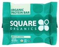 Square Organics - Organic Protein Bar Chocolate Coated Nuts & Sea Salt - 1.6 oz.