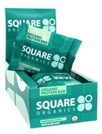 Square Organics - Organic Protein Bar Box Chocolate Coated Nuts & Sea Salt - 12 Bars